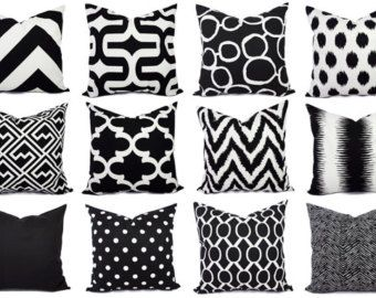 yli tuhat ideaa black pillow covers pinterestiss - Black And White Decorative Pillows