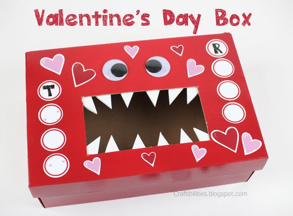 Ideas For Decorating Valentine Box Craftibilities Monster Valentine's Day Box  Schoolclassroom