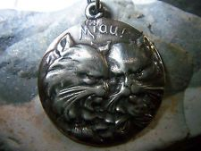 Miau Wunderschöner Katzen Anhänger 830 Silber