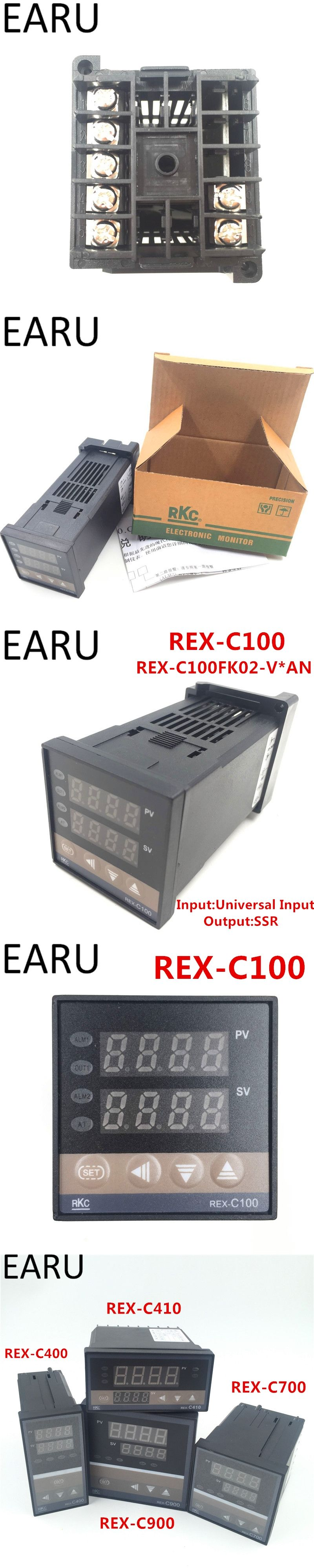 New Rkc Rex C100 Digital Pid Temperature Control Controller Solid State Relay Finder Thermostat Thermometer Ssr Output Universal Input