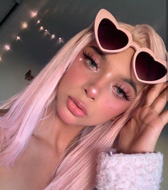 2020 的 Preferred Human Hair Princess Pink Lace Front Wigs
