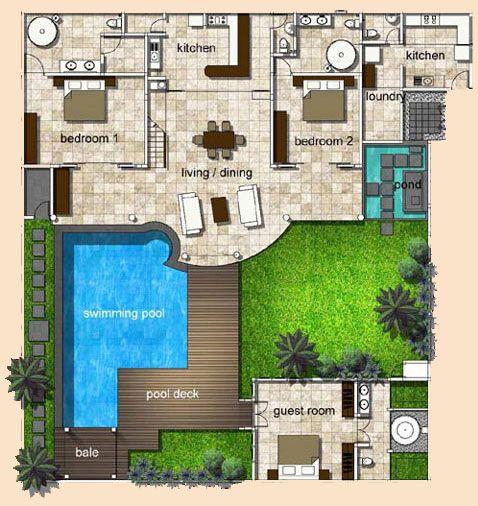 خرائط فلل مع المسبح تصاميم فيلات بالمسبح مخطط تصميم فيلل صغيرة مخطط مسبح فلل Iron Gate Design House Floor Design Architecture Design Sketch