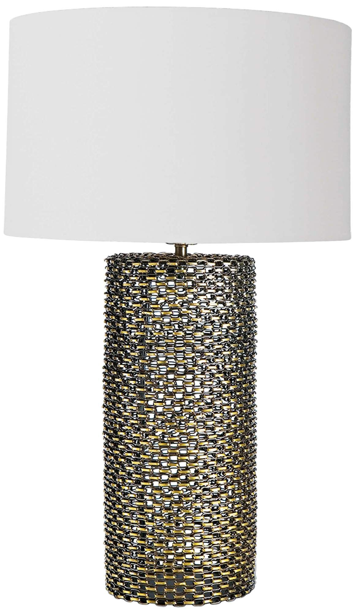 Regina Andrew Cowser Antique Brass Chain Link Table Lamp di