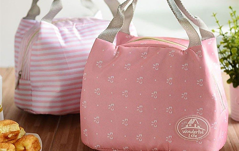 Big sale fashion portable insulated canvas lunch bag