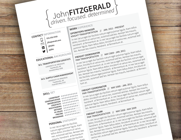 Freight Broker Sample Resume The Cutout  A Creative Resume Template From Www.resumelaunch .