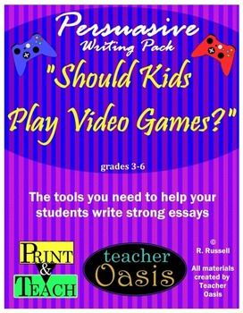 Persuasive Writing Prompt Should Kid Play Video Game For A Essay Essays Best Violence