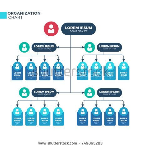 Stock Vector Business Structure Of Organization Vector