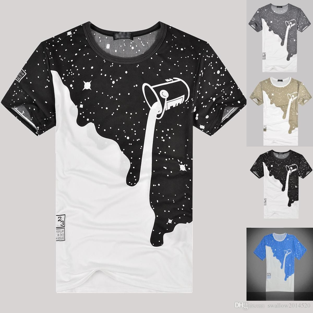 bcfe4d2acc38 New 2018 Mens Summer Tees Plus Size O-neck Short Sleeve T Shirt Milk Printed  Cotton T-shirt 3D Designer Clothing M-XXL Golf Tshirt