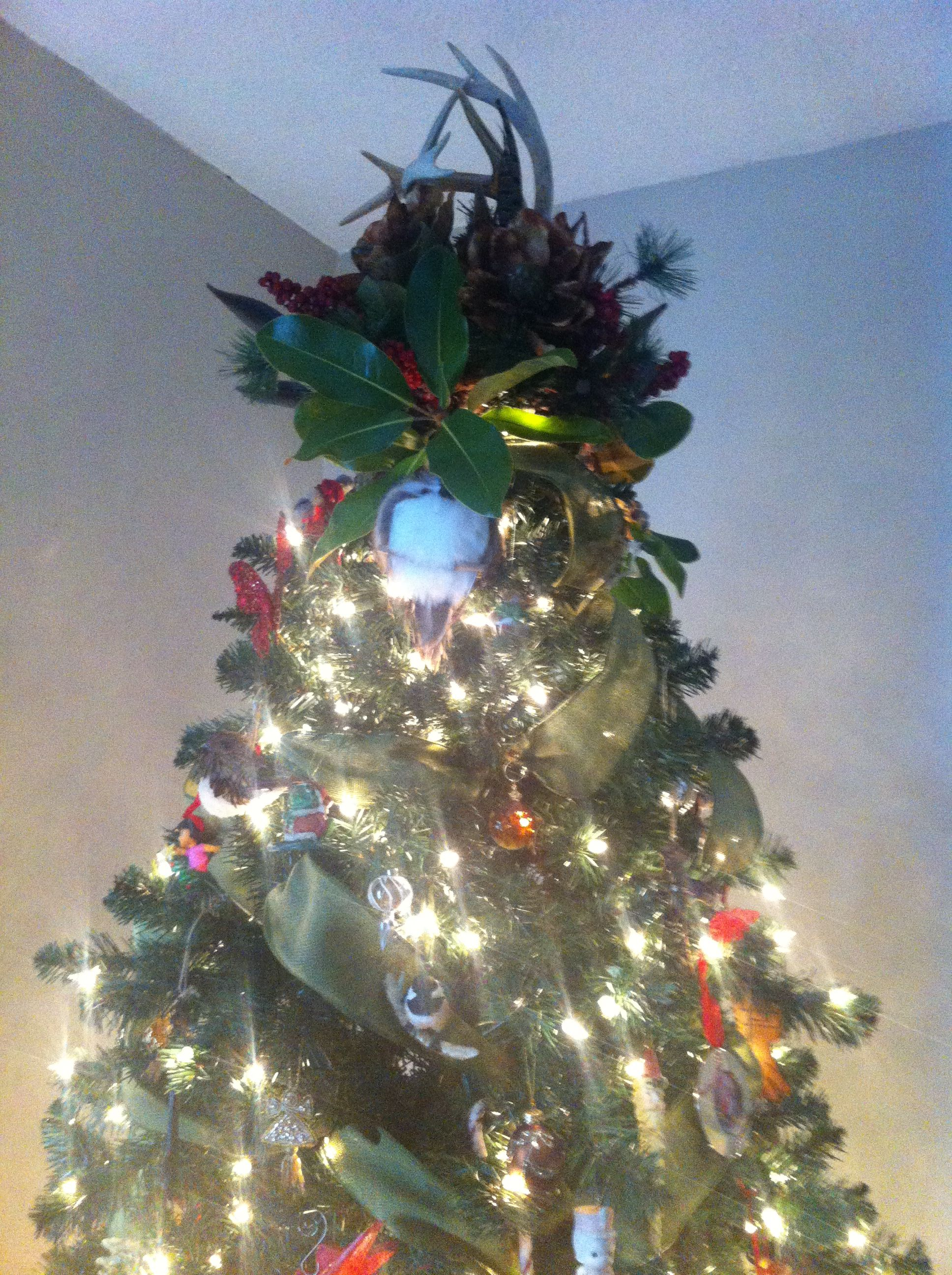 Antler Tree Topper. Christmas Tree Topper Tree Topper Rustic By With ...