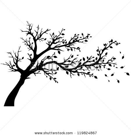 Tree Silhouettes Vector Illustration Stock Vector