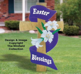 Gigantic Easter Cross Made From Plywood Easter Cross Diy Easter Decorations Spring Easter Decor