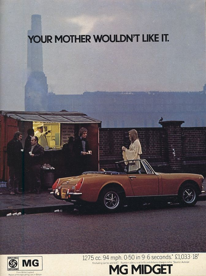 Mg midget brochure formidable woman