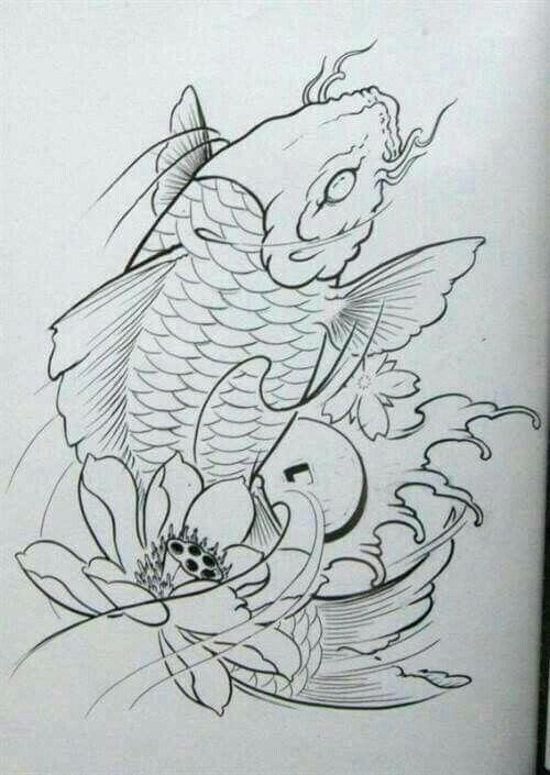 Japanesekoifishtattoo Koi Tattoo Japanese Tattoo Art Koi Fish Drawing