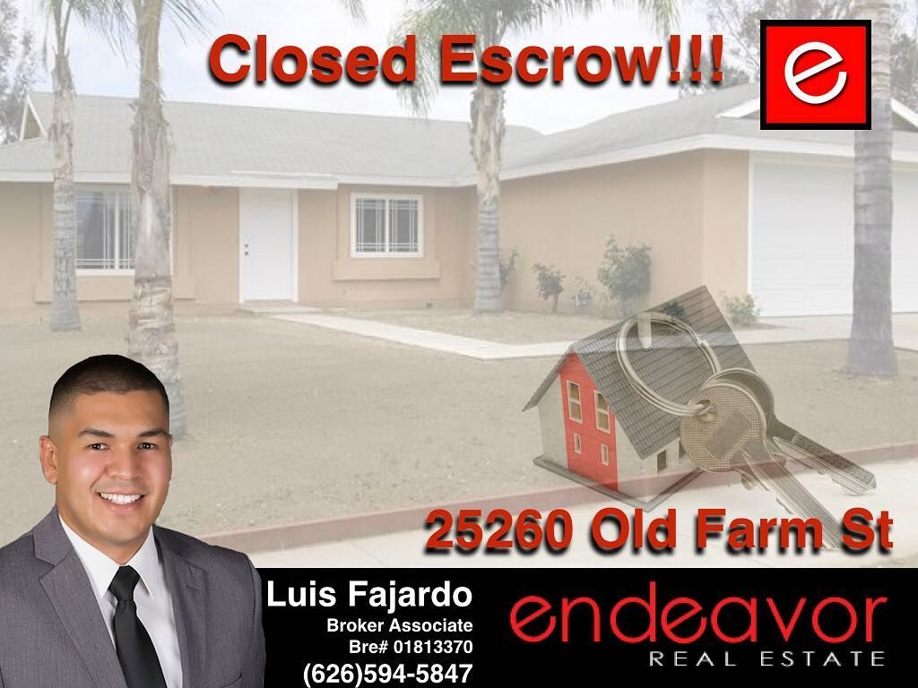 ESCROW CLOSED! Congratulations to my clients on the purchase of their new home. May God bless their new home and bring them new endeavors.... if you're curious what you qualify for click on the link to get an idea: http://bit.ly/freemortgagecalculator or contact me directly for a free consultation. http://bit.ly/yourrealestatepro #closedescrow #congratstomybuyers #makingdreamshappen #callmetoday #6265945847 #fajardohomesales #endeavorrealestate