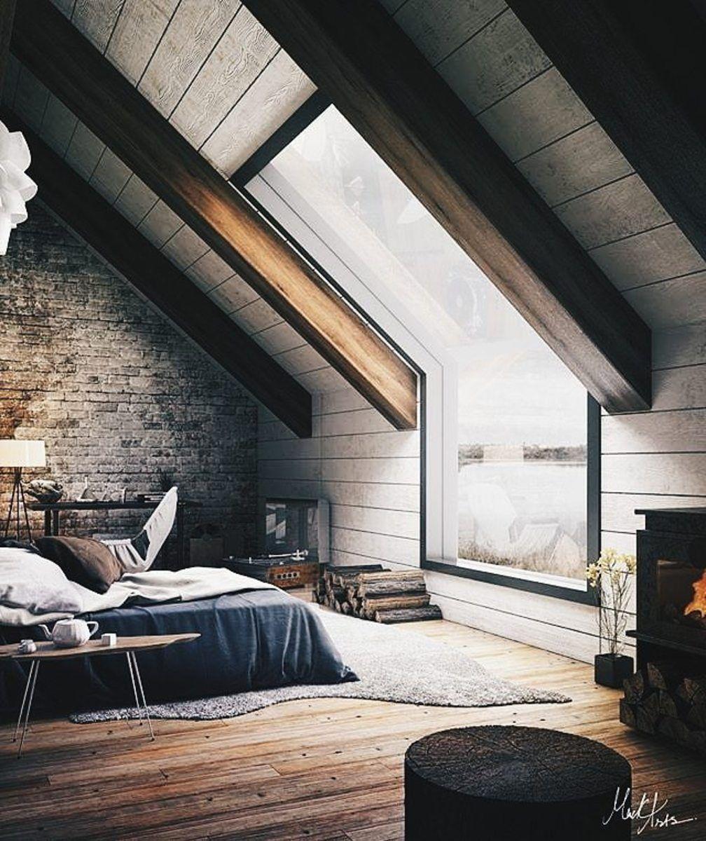 Minimal Interior Design Inspiration 145 Attic Bedroom Designs Attic Bedroom Decor House Design