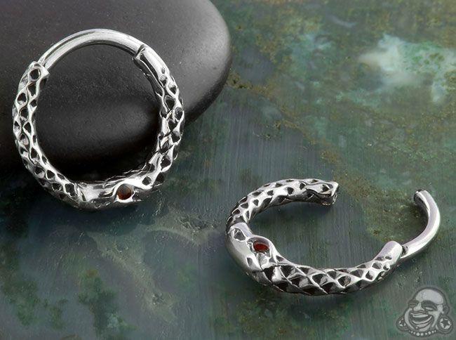 Snake Septum Clicker Septum Jewelry Ear Jewelry Septum Clicker