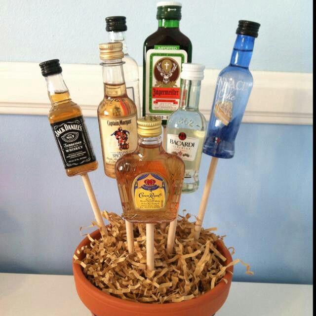 Adult gift idea alcohol bouquet yummy stuff i need to make adult gift idea alcohol bouquet negle Gallery
