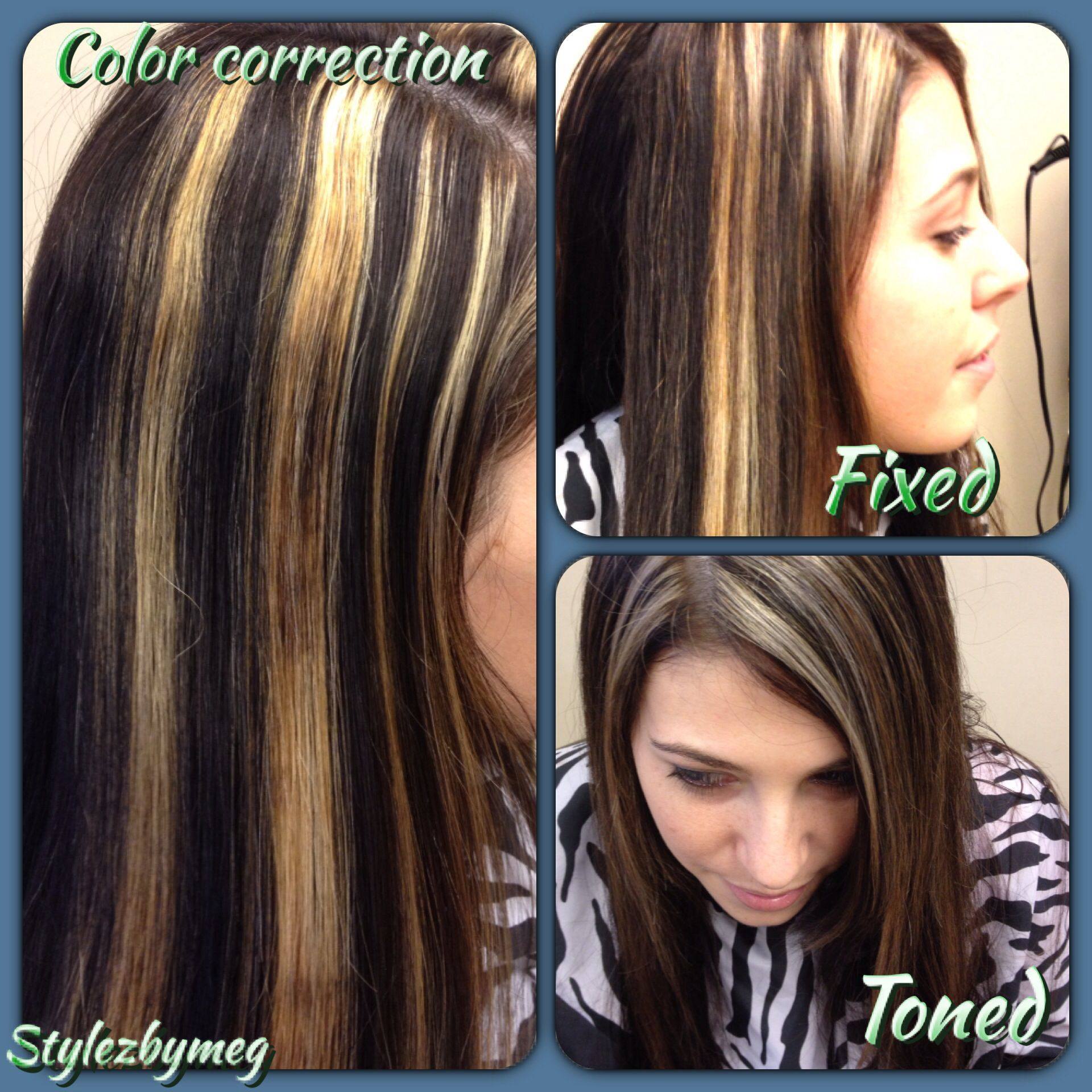 Color correction ladies if youre getting highlights