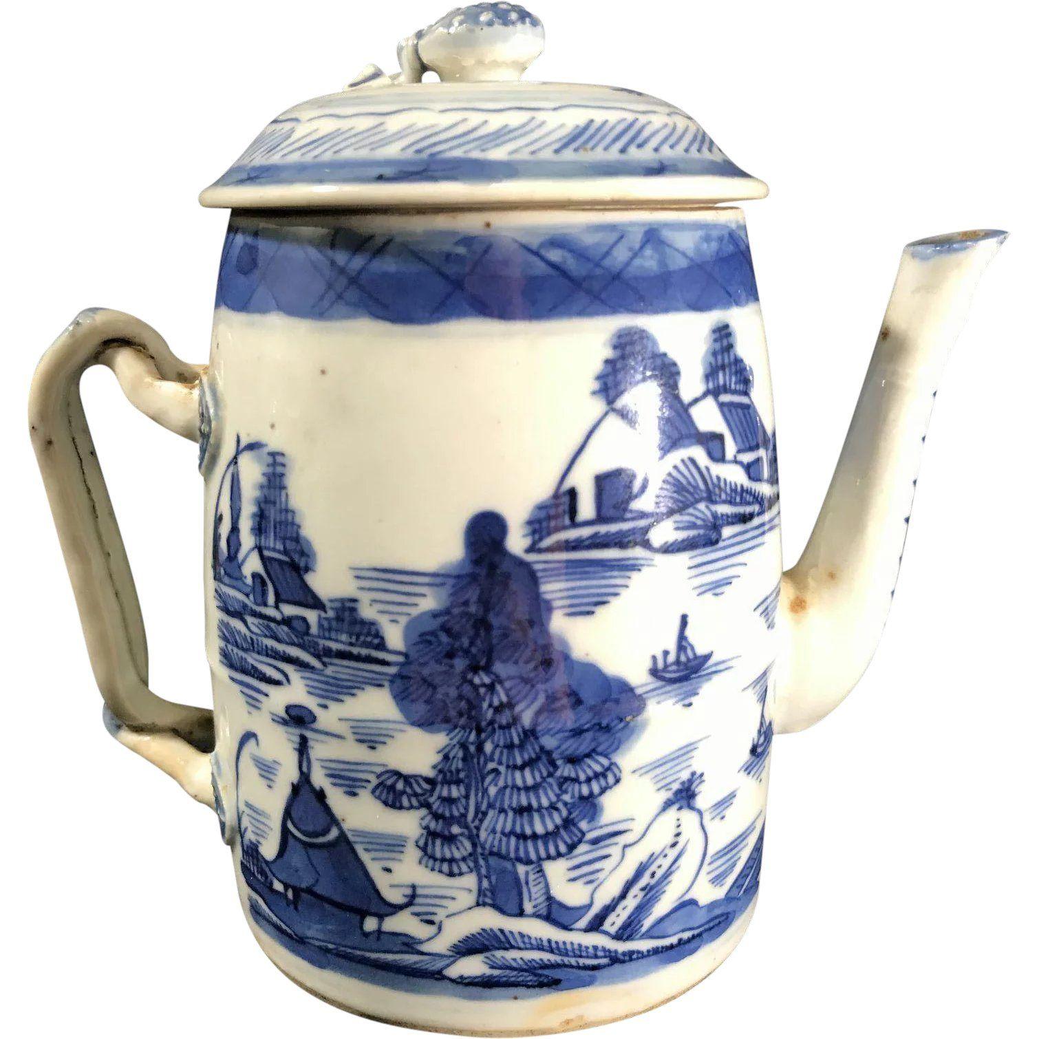 19th Century Chinese Canton Tea Pot
