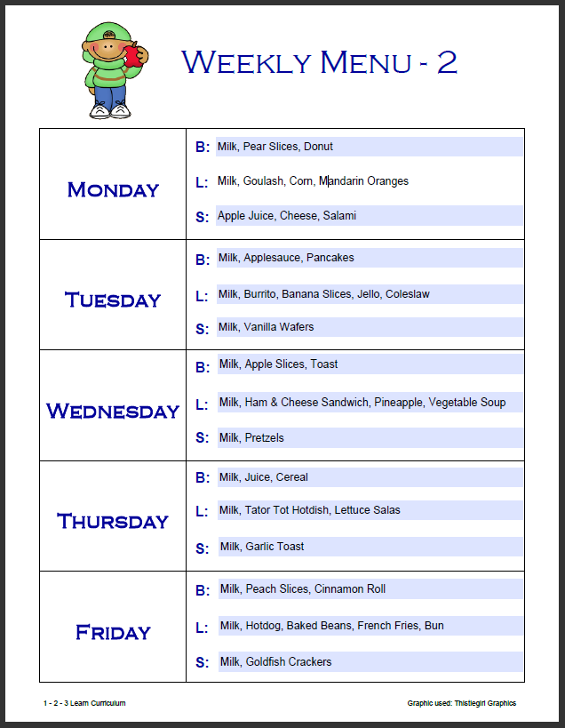 Weekly+Menu+2.png (636×819) | childcare inforation for childcare ...