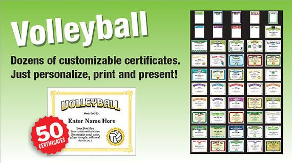Volleyball Certificates Kid Certificates Child Certificate Volleyball Awards Volleyball Coach Youth Volleyball Volleyball Mom Dad Volleyball Quotes Volleyball Coaching Volleyball