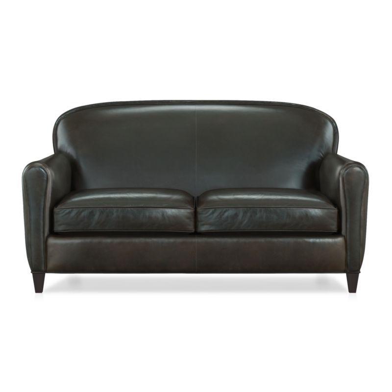 Astounding Eiffel Leather Loveseat Products Leather Loveseat Machost Co Dining Chair Design Ideas Machostcouk