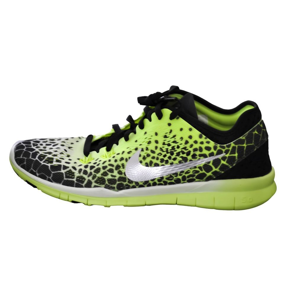 reputable site e0307 a4945 Nike Free 5.0 TR FIT 5 PRT Women s Training Shoes Black Volt size 8.5 NEW