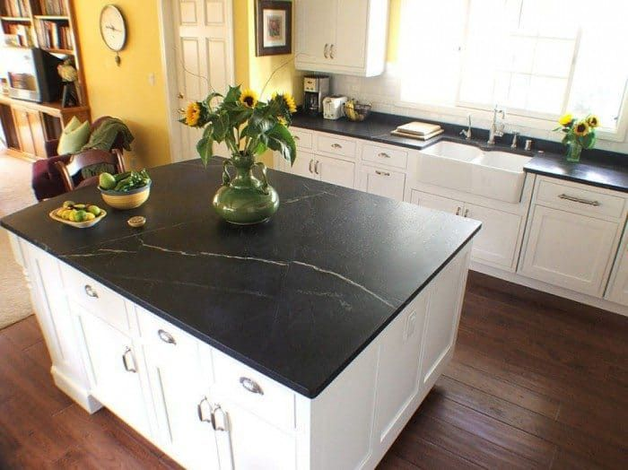 Soapstone Countertops For Natural Choice In Your Kitchen - Outdoor kitchen countertops, Kitchen countertops, Kitchen renovation, Diy kitchen countertops, Soapstone countertops kitchen, Replacing kitchen countertops - Soapstone countertops are one material that many homeowners find appealing  The mineral used to make soapstone countertops, steatite, comes from metamorphic rock