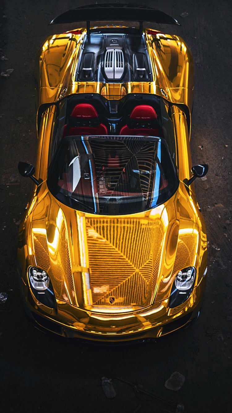 gold car wallpaper Iphone Android car gold wallpaper