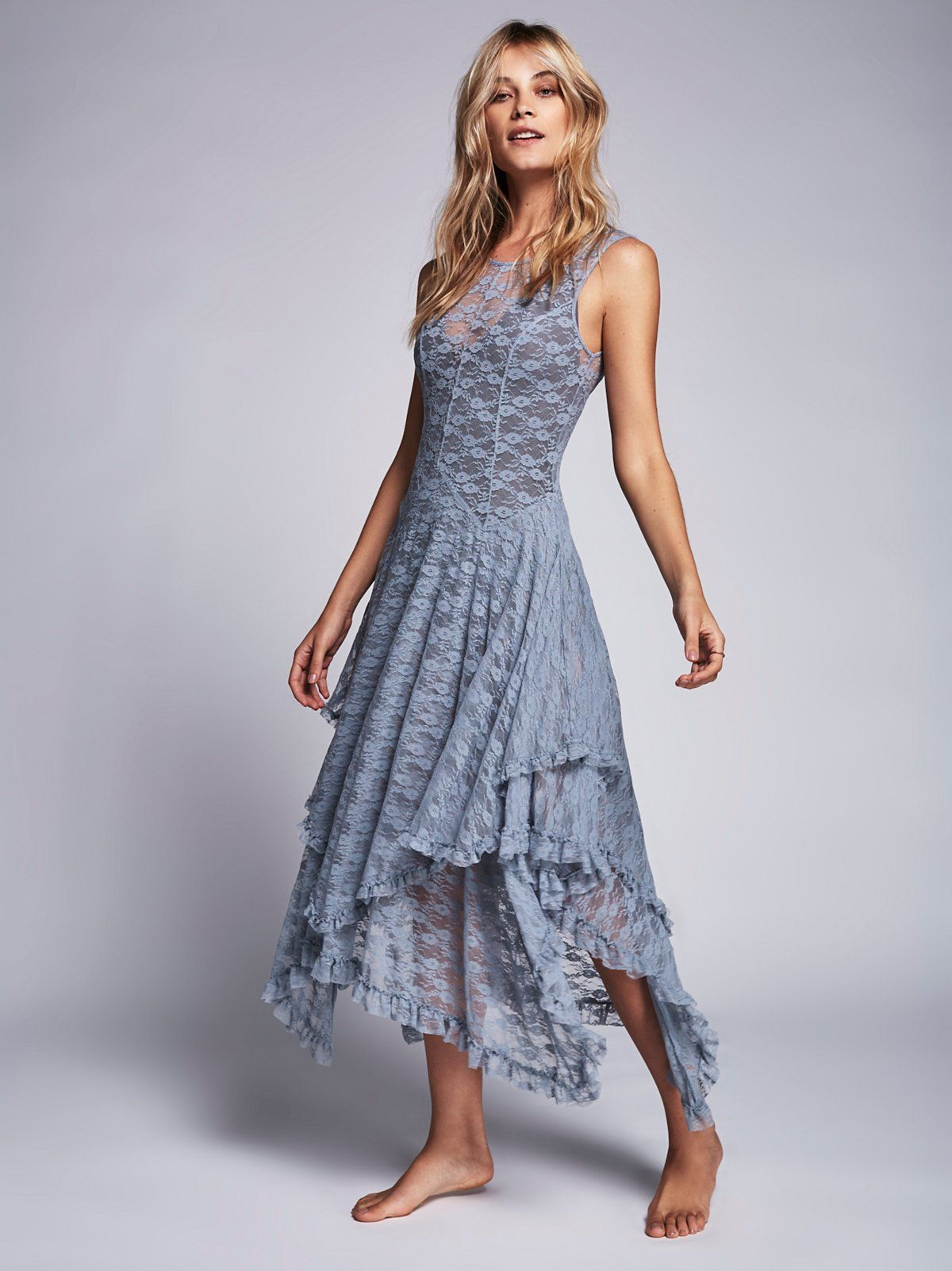 a99f47b04649 French Courtship Slip | Sheer lace slip dress with high neckline at front  and low