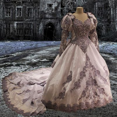 Gothic?steam-punk wedding dress? whatever it is its beautiful