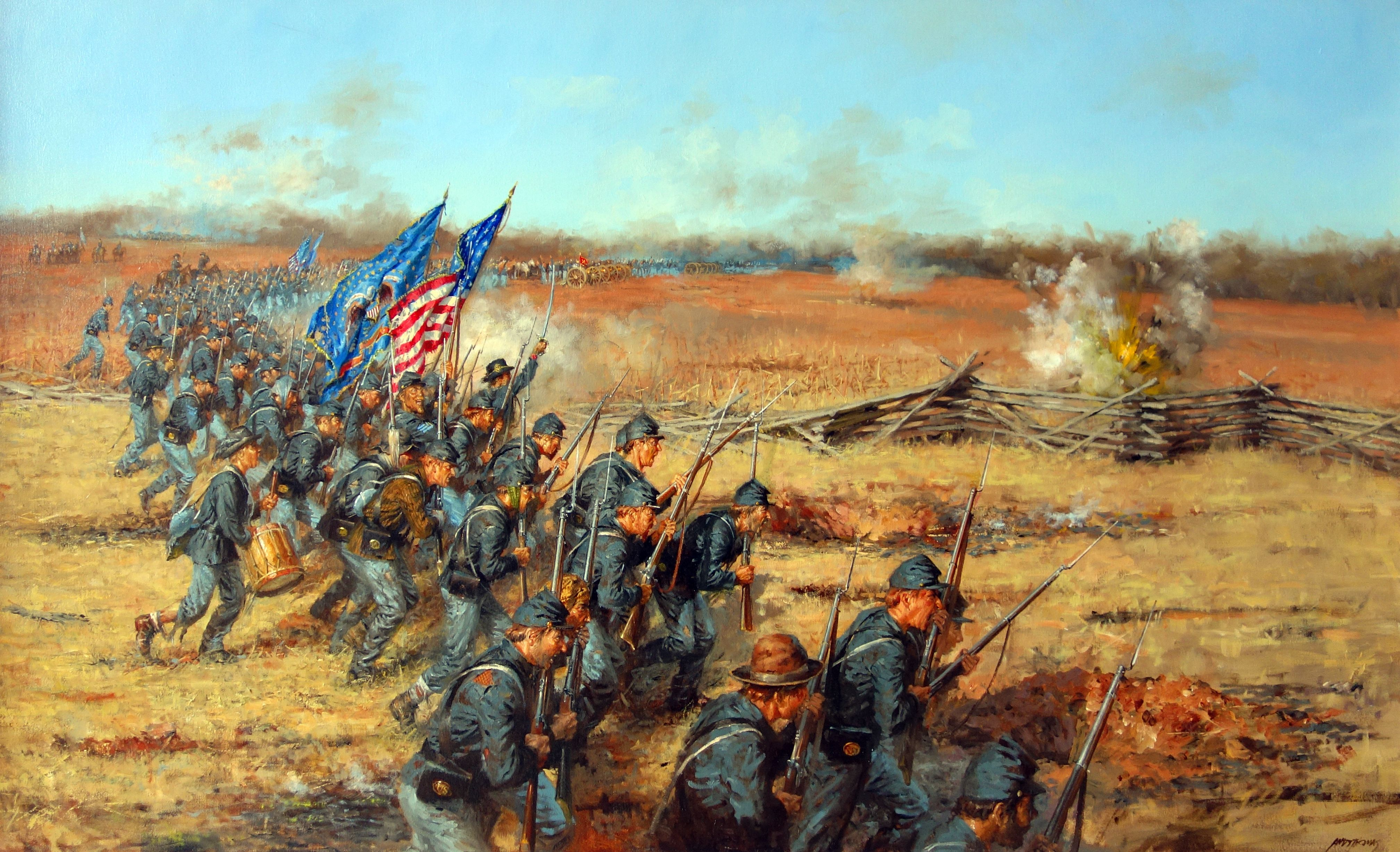 Lions Charging by Dan Nance: 20th Maine at Gettysburg