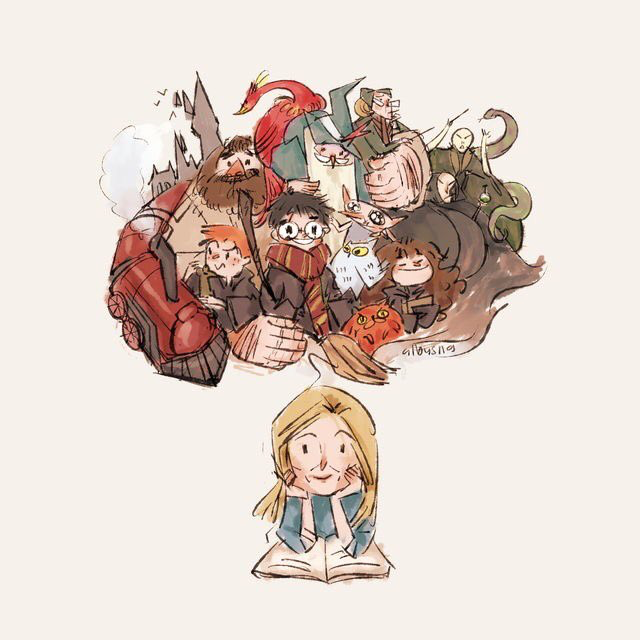 J K Rowling Made Her Imagination A Reality For Millions Of Fans Across The Globe Harry Potter Illustrations Harry Potter Drawings Harry Potter Anime