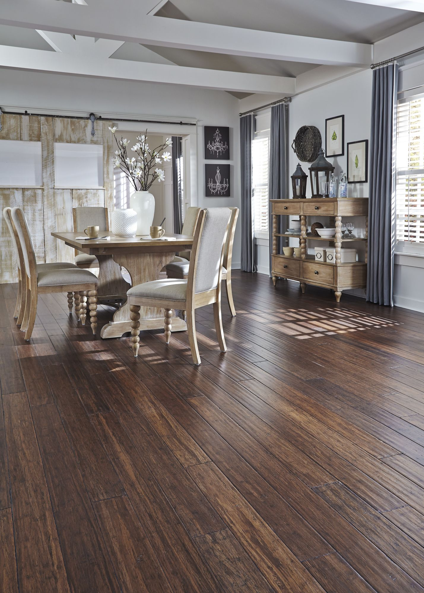 Bamboo Flooring For Kitchen Pros And Cons Distressed Bamboo Is A Top Pick This Fall Would You Use This