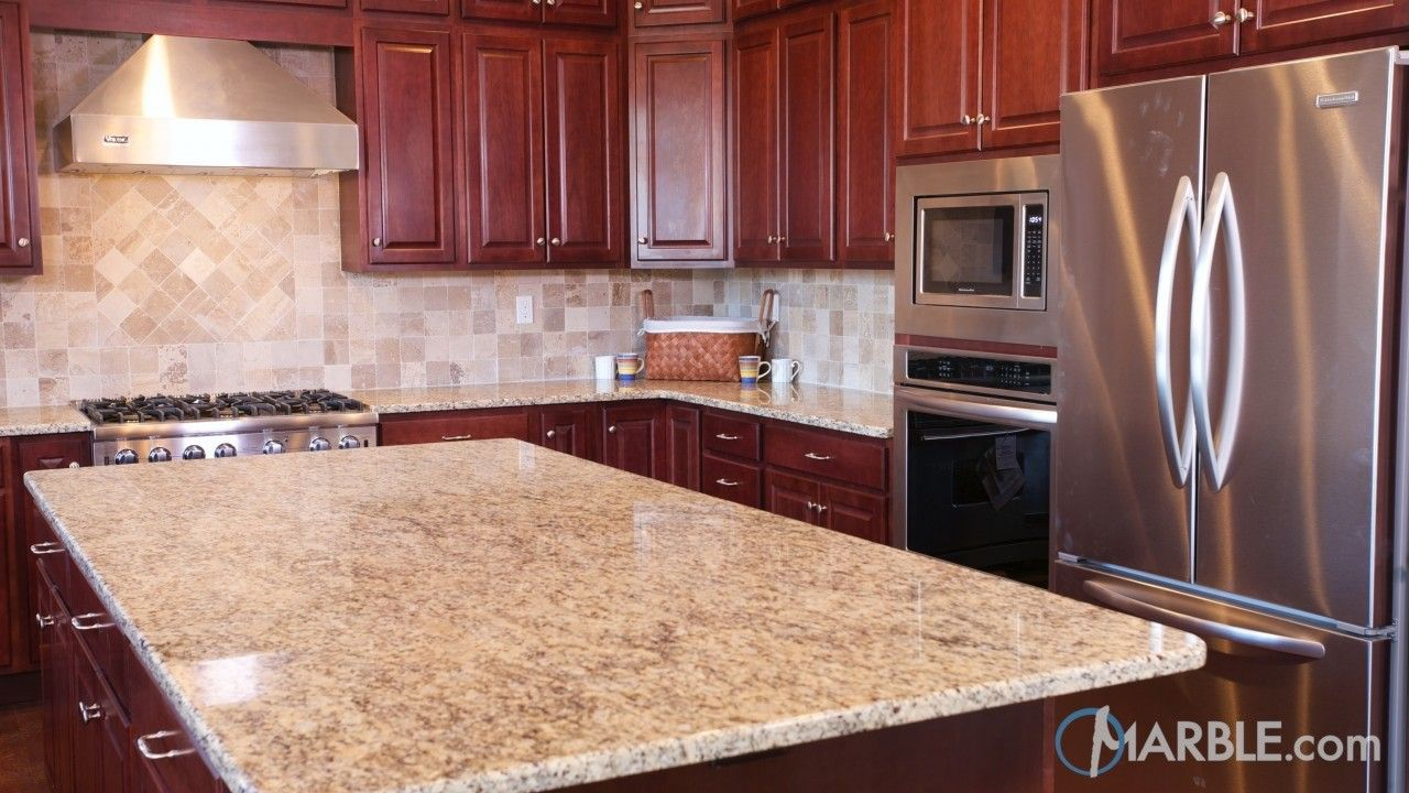 Giallo Ornamental Granite Kitchen Counters | counter top | Pinterest