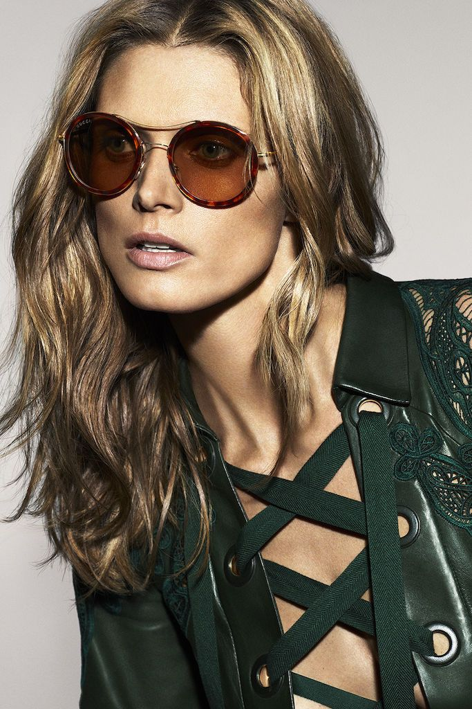 1cdc9240fef gucci round tortoise  sunglasses campaign