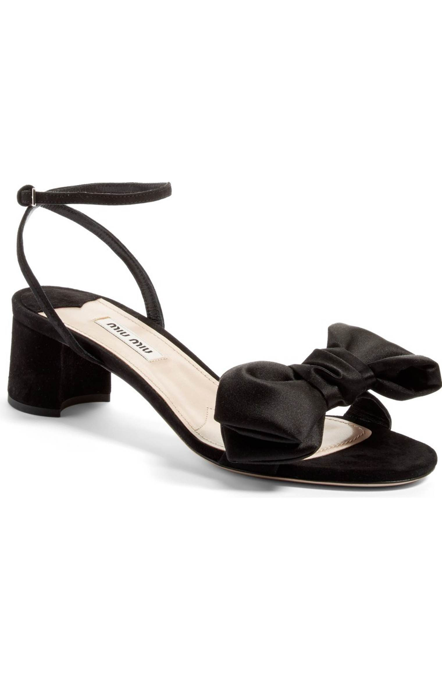 Main Image - Miu Miu Strappy Bow Sandal (Women)