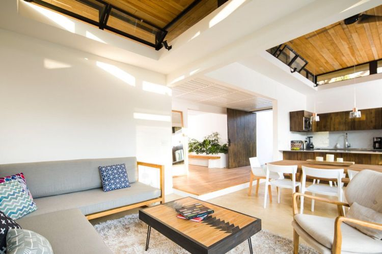 boutique hotel bungalow wohnzimmer offene küche Wohnzimmer - offene küche wohnzimmer