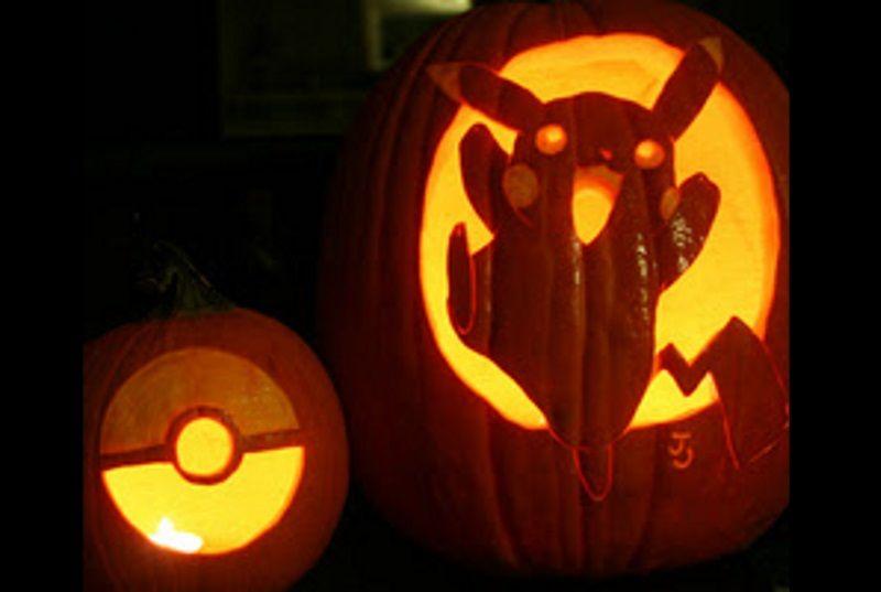 Pokemon pumpkins get stencils for pikachu and a