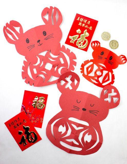 Easy Lunar New year Rat Paper Cutting Craft