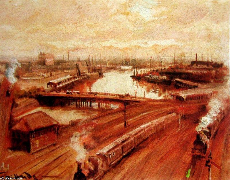 Back Of St gare Flinders de George Hyde Pownall (1876-1932)