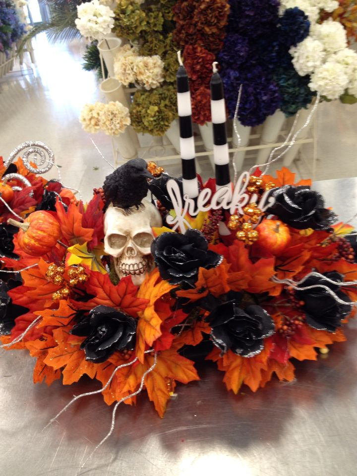 Freaky Halloween candle arrangement my florals @Michaels Store - halloween michaels