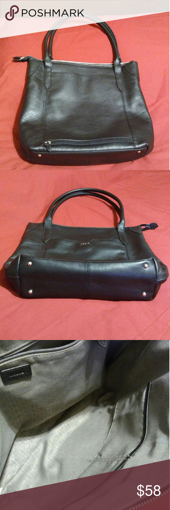 d2c33568c Lodis Kiera Leather Tote Black Lodis Kiera Leather Tote Good Condition Very  Clean, Include an Exterior Back Zip Pocket. It Has Some Marks of Normal  Use, ...