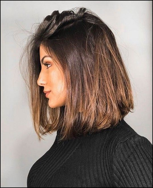 130 Straight Medium Length Hairstyles For Women To Look Attractive Page 21 Myblogika Com Hair Styles Long Hair Styles Straight Hairstyles