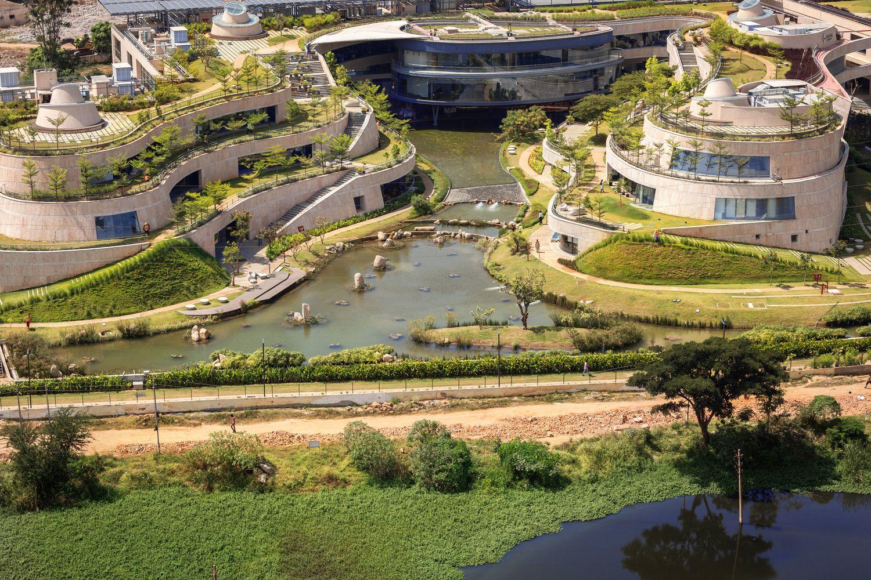 Gallery Of Titan Integrity Campus Mindspace 34 Roof Garden Campus Ground Floor Plan