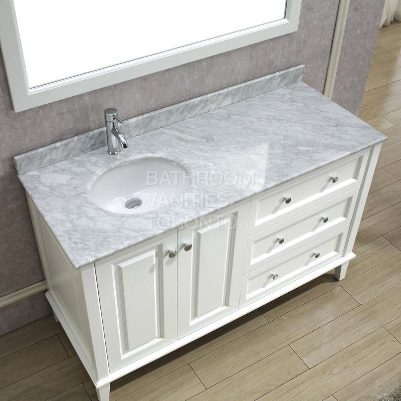60 inch vanity top single sink right