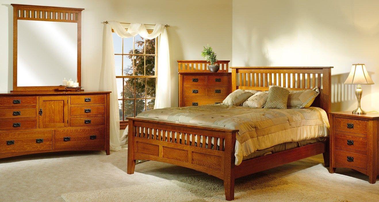 Mission Antique Bedroom Set Bedroom Furniture Makeover Oak