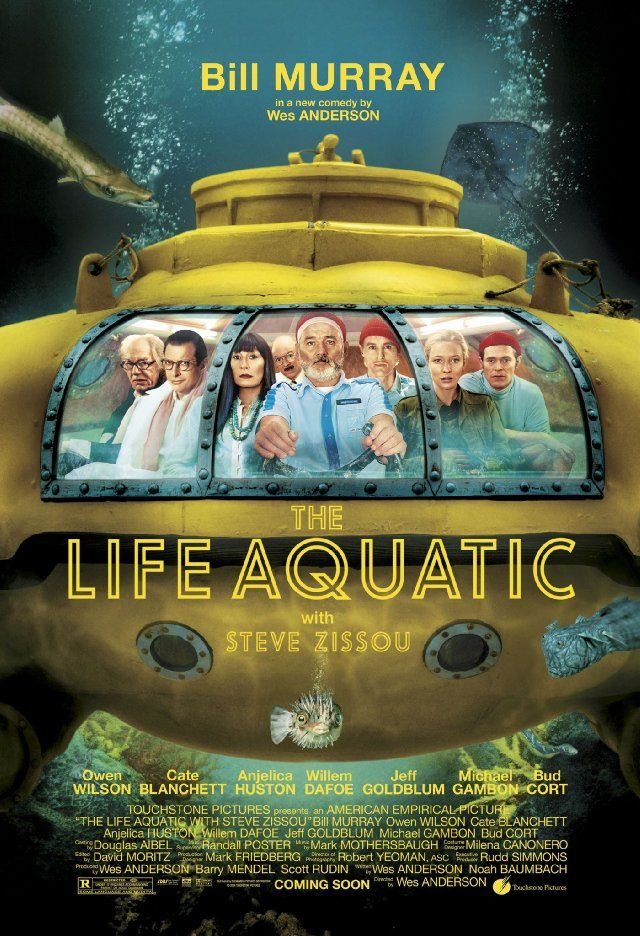 Life Aquatic 2004 With a plan to exact revenge on a mythical shark that killed his partner, oceanographer Steve Zissou rallies a crew that includes his estranged wife, a journalist, and a man who may or may not be his son.