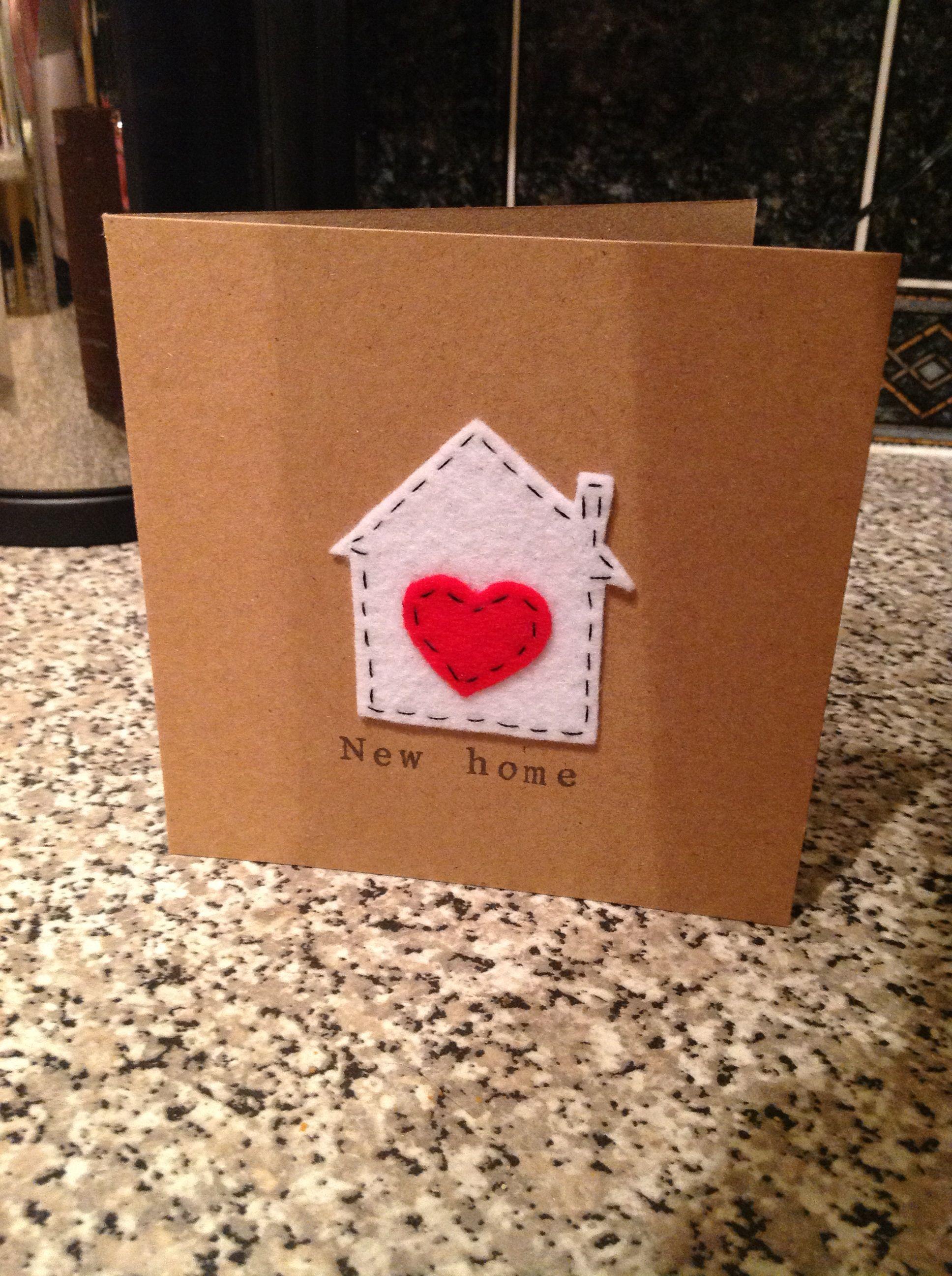 New home card by The Lemon Button | Cards | Pinterest | Zum einzug ...