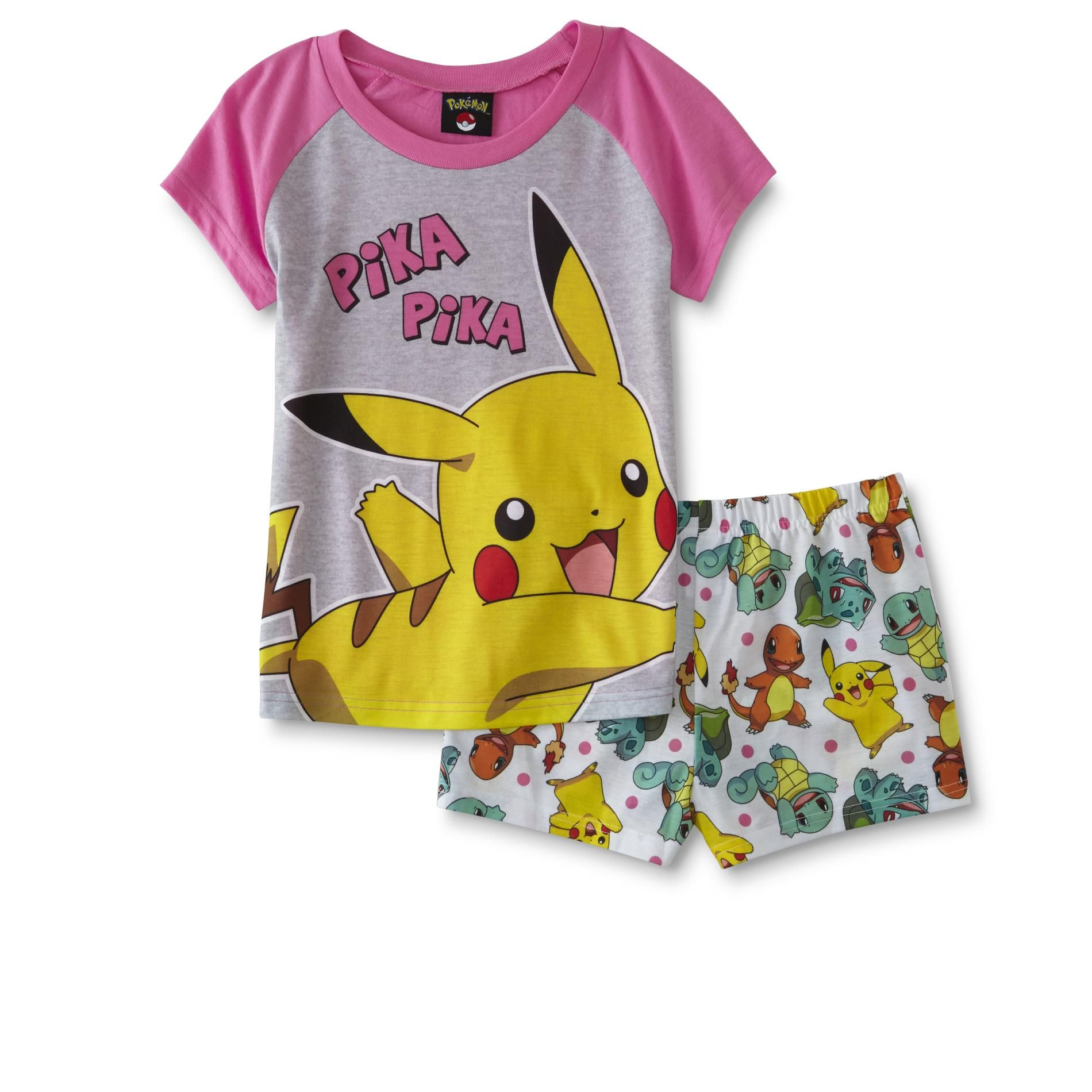 a85e817bbe77c Pokemon CCG Girls' Pajama T-Shirt & Shorts - Pikachu | Party PJ's :D ...
